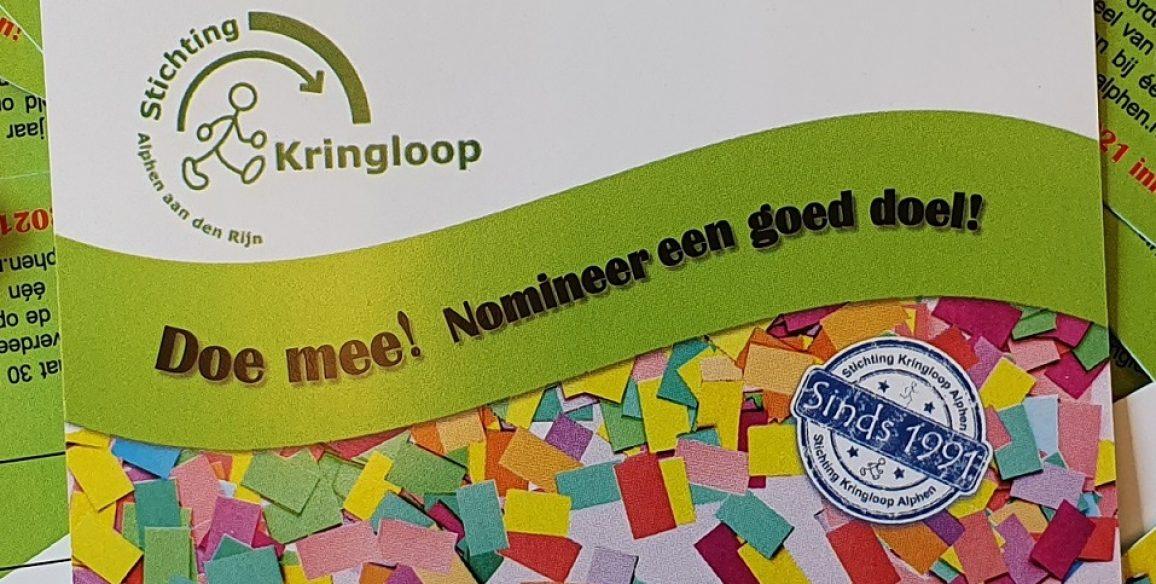 Nog maar een paar dagen om je goede doel te nomineren!
